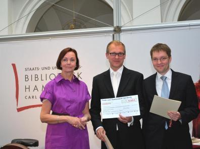 Lehrpreis 2010 - Senatorin Herlind Gundelach, Niklas Marwedel, Roland Broemel